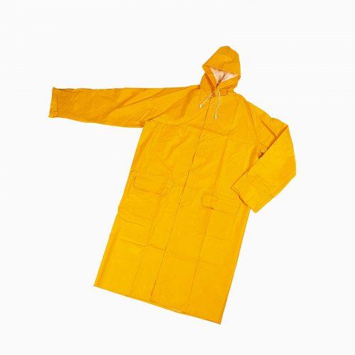 13-303090901 Aδιάβροχη καμπαρντίνα. Χρώμα κίτρινο.