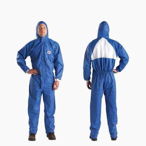 3Μ-4532 Υψηλών προδιαγραφών φόρμα τύπου TYVEK με ειδικό αερισμό για θερινή περίοδο. Ολόσωμη με κουκούλα. Με πλεκτές μανσέτες και διπλό φερμουάρ.