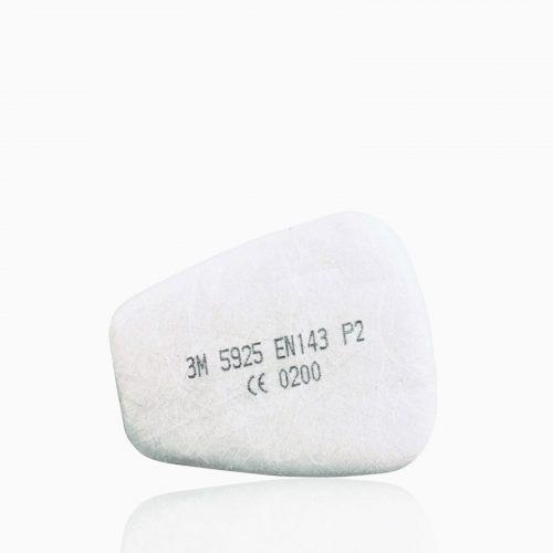 3M-5925 Προφίλτρα σωματιδίων-σκόνης (P2SL) για μάσκες 3Μ 6200, 3Μ 6502, 3Μ 6800, 3Μ 7502.