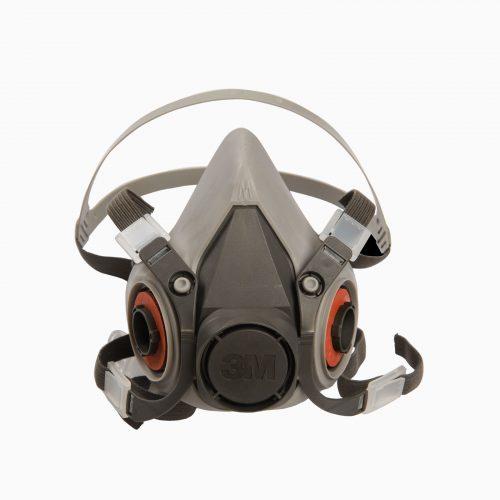 3M-6200 Μάσκα μισού προσώπου. Δέχεται φίλτρα αερίων - ατμών.