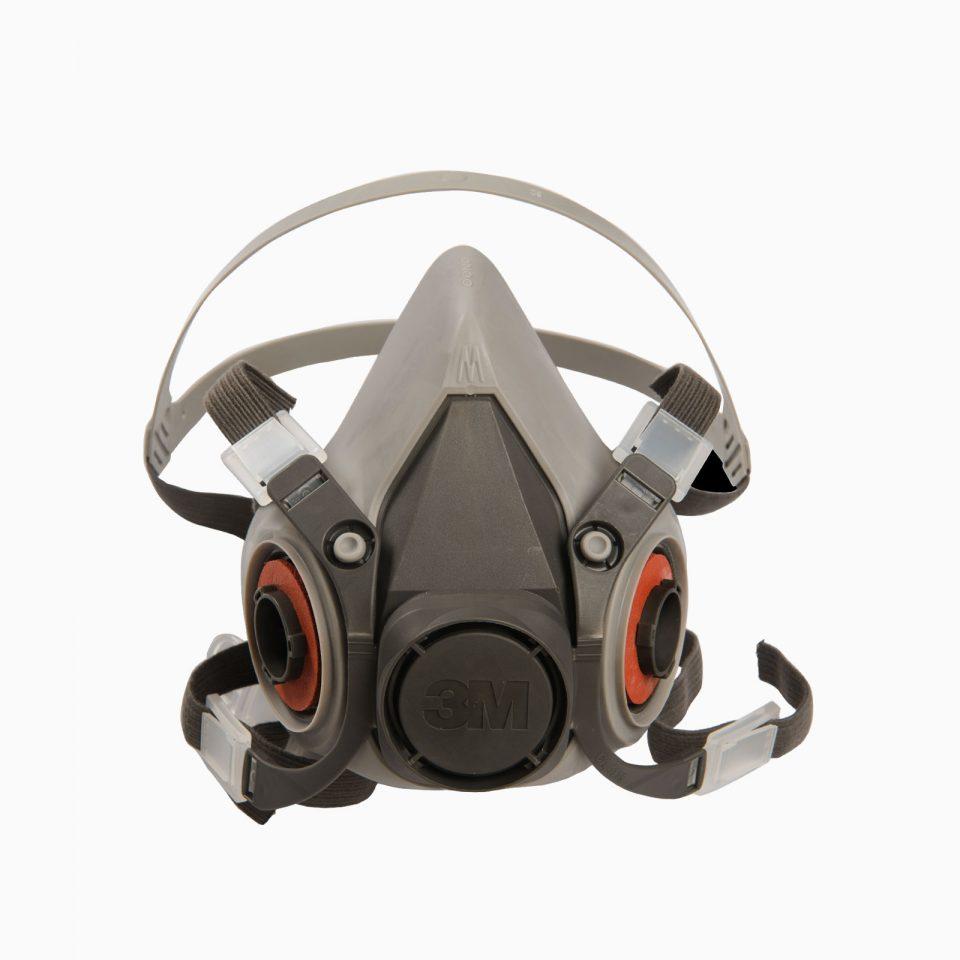 3M-6200 Μάσκα μισού προσώπου. Δέχεται φίλτρα αερίων – ατμών.