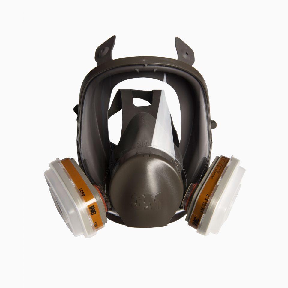 3M-6800 Μάσκα ολοκλήρου προσώπου. Δέχεται φίλτρα αερίων – ατμών.