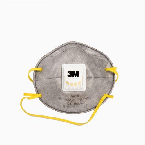 3M-9914-FFP1S Μάσκα άνθρακα, σκόνης & αερίων με φίλτρο (FFP1S) και βαλβίδα εκπνοής για εύκολη αναπνοή.