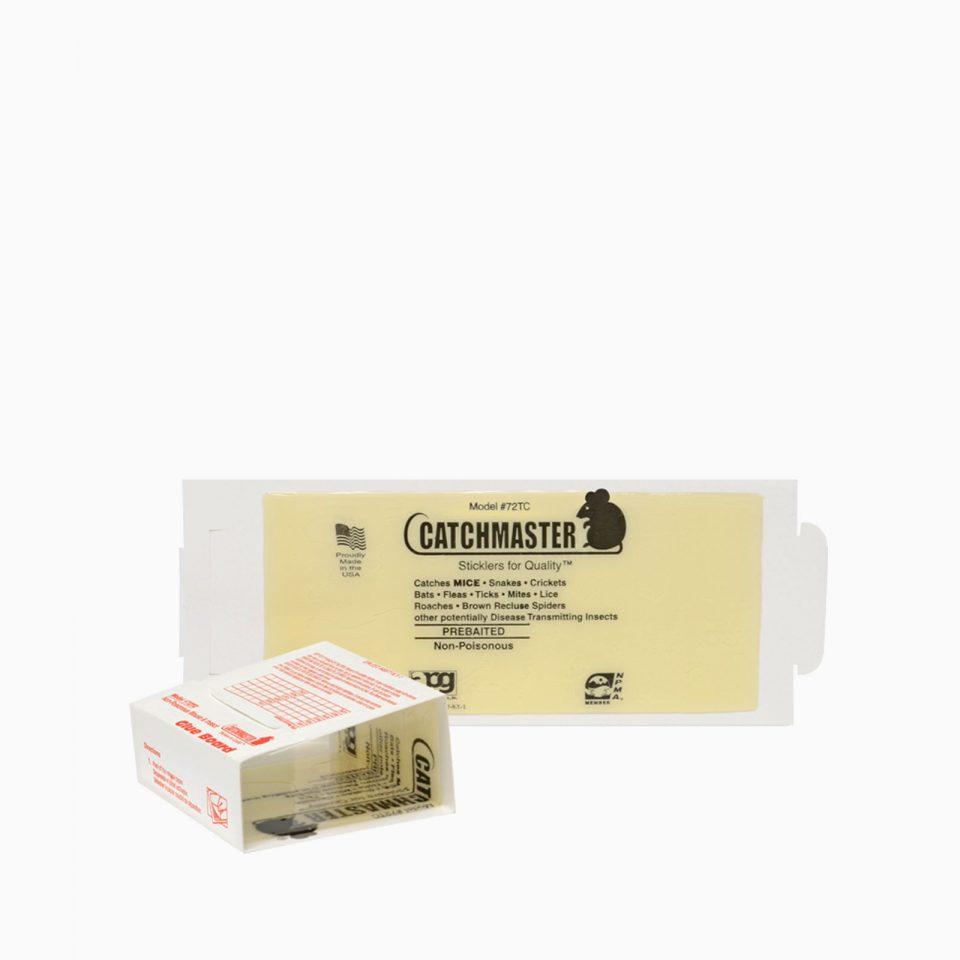 72TC-CATCHMASTER Aπλή παγίδα από χαρτί και άοσμη κόλλα, καλυμμένη από σιλικονούχο χαρτί και ακίνδυνη.