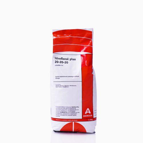 IDRIFLORAL-PLUS 20-20-20 Λίπασμα 20-20-20 ΕΚ σε σκόνη υψηλής συμπύκνωσης και διαλυτότητας, για υδρολίπανση και φυλλολίπανση. NPK 20-20-20 και ιχνοστοιχεία