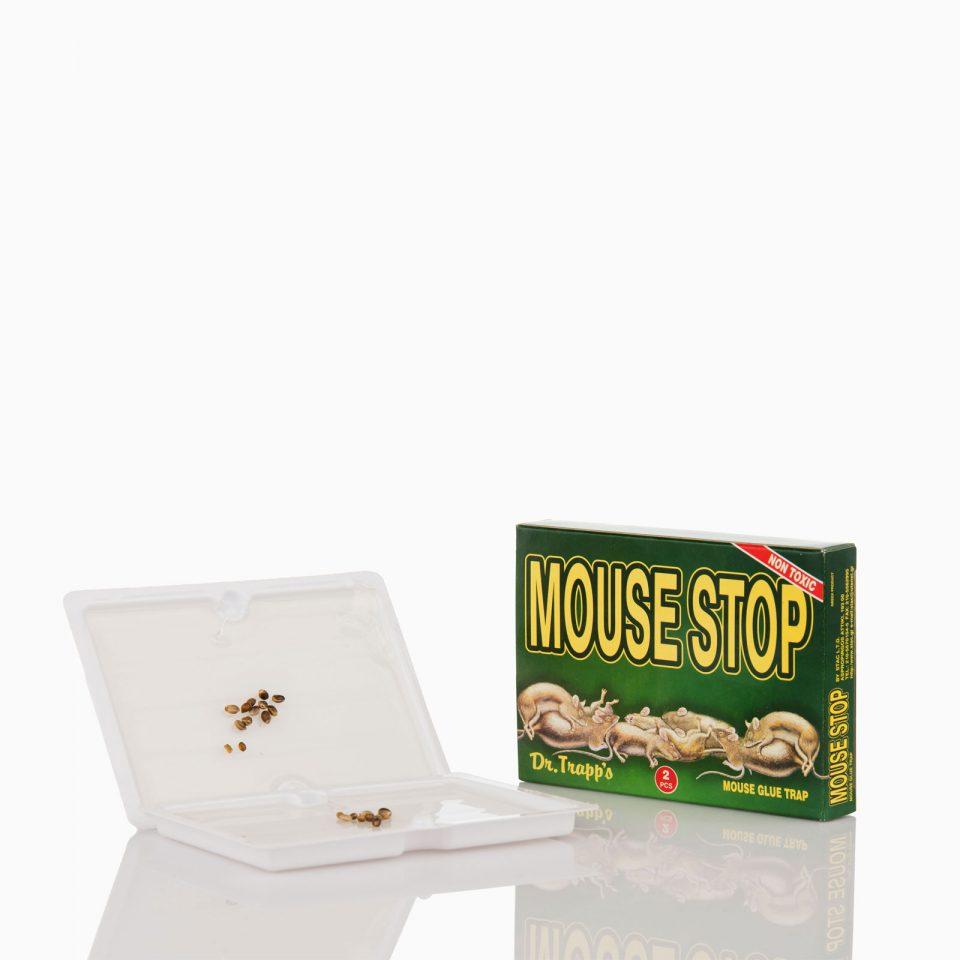 MOUSE-STOP Ποντικοπαγίδα mouse stop μικρή με κόλλα και δόλωμα
