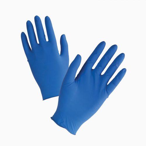 13-202033429 Γάντια μιας χρήσης από 100% φυσικό Latex χρώματος μπλε.