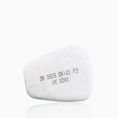 3M-5935 Προφίλτρα σωματιδίων-σκόνης (P3SL) για μάσκες 3Μ 6200, 3Μ 6502, 3Μ 6800, 3Μ 7502.