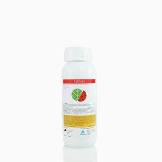 CALCISAN-500 Υγρό οργανοχημικό λίπασμα με οργανικό άζωτο & ιχνοστοιχεία. Εφαρμόζεται διαφυλλικά και σε υδρολίπανση για τη βελτίωση της θρέψης των φυτών σε ασβέστιο.