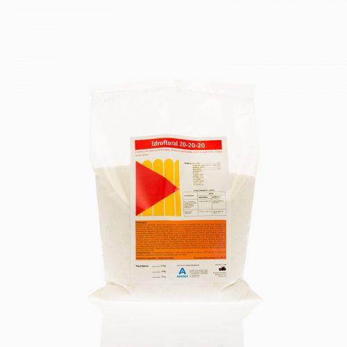 IDROFLORAL-20-20-20 Λίπασμα ΕΚ σε σκόνη υψηλής συμπύκνωσης και διαλυτότητας, για υδρολίπανση και φυλλολίπανση. NPK 20-20-20 και ιχνοστοιχεία
