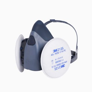 3M-2125-3M-7502 Φίλτρο συγκράτησης σωματιδίων (FFP2) για μάσκες. Πανω σε μάσκα 3M7502.