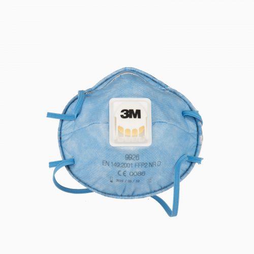 3M-9926-FFP2S Η μάσκα 3M 9926 είναι σχεδιασμένη να παρέχει άνετη προστασία ενάντια στα σωματίδια, έλαια και σταγονίδια.