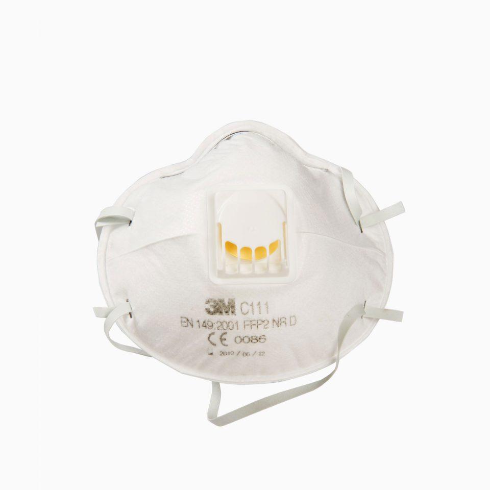 3M-C111 Μάσκα σκόνης, σταγονιδίων (FFP1) με βαλβίδα εκπνοής.