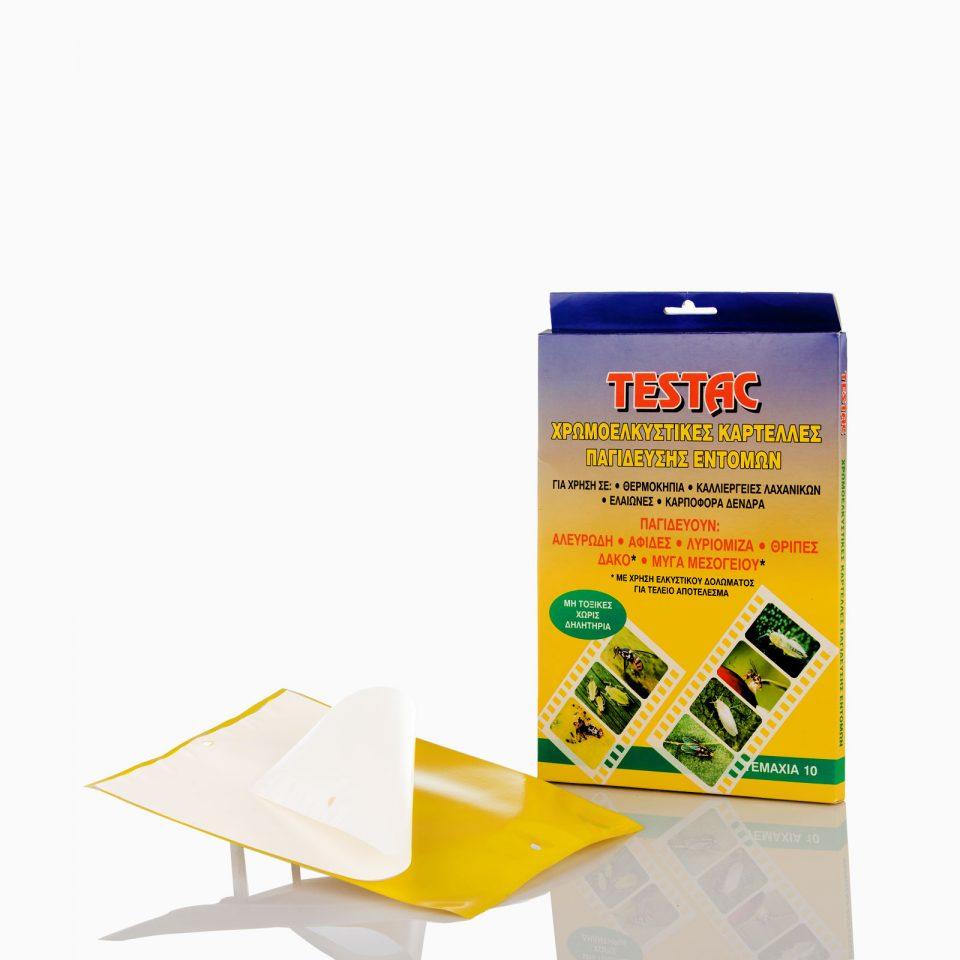 TESTAC Χρωματική παγίδα TESTAC χρώματος κίτρινου. Διαστάσεις 21cm x 15cm