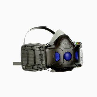Μάσκα 3M HF802SD. Μισού προσώπου. Δέχεται 2 ανταλλακτικά φίλτρα αερίων - ατμών, Secure Click™.
