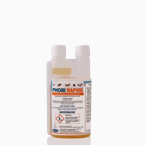 PHOBI-RAPIDE-500ML Εντομοκτόνο-ακαρεοκτόνο (etofenprox 30%), για την καταπολέμηση βαδιστικών, ιπταμένων εντόμων, ακάρεων και άλλων αρθρόποδων.