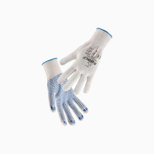 Γάντια-650400-KELE υφασμάτινα βαμβακερά με κόκκους PVC για κηπουρικές εργασίες